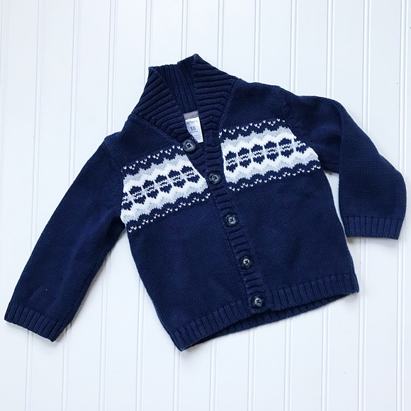 Carter's Other - •Carter's• Navy/White Fair Aisle sweater